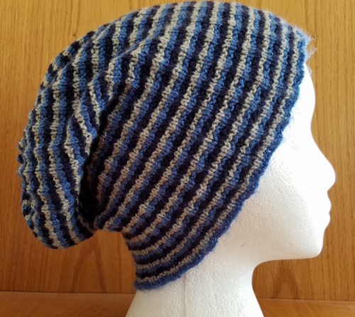 Slouchy Ribbed Knit Hat Pattern