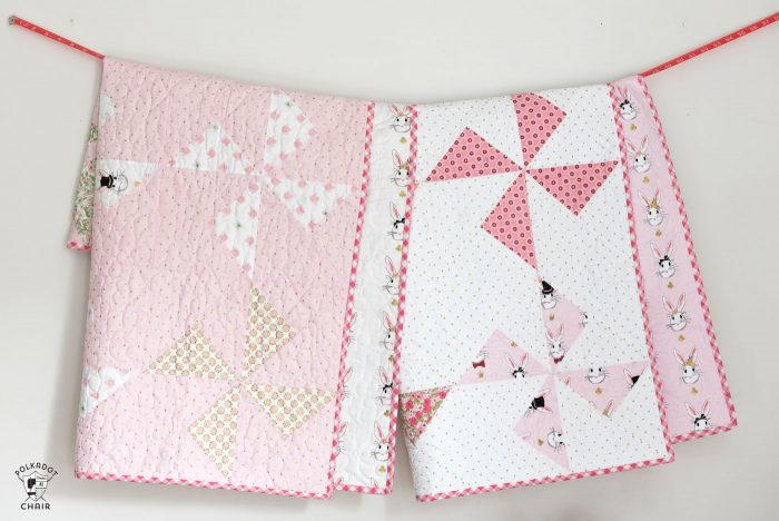 Pink Pinwheel Baby Quilt Favequilts Com