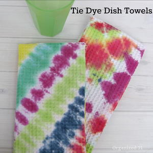 DIY Tie-Dyed Dish Towels