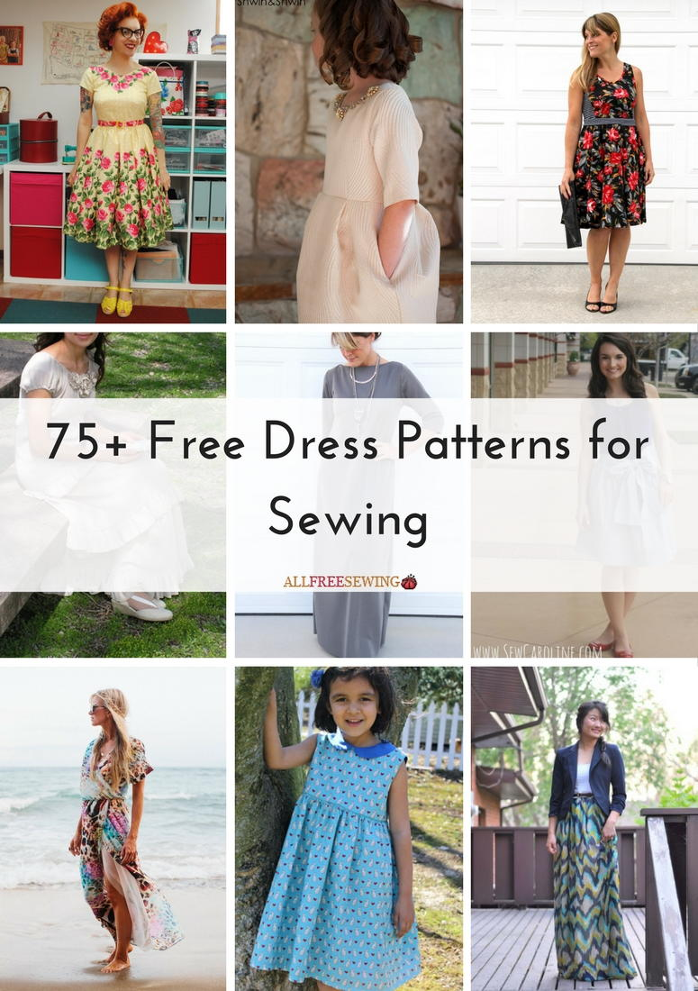 75 Free Dress Patterns For Sewing Allfreesewing Com