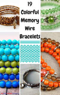 19 Colorful Memory Wire Bracelets