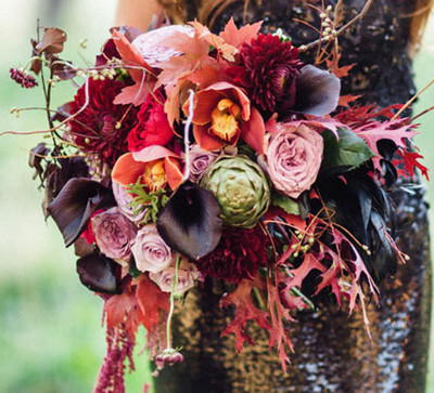 Eclectic Fall Wedding Bouquets