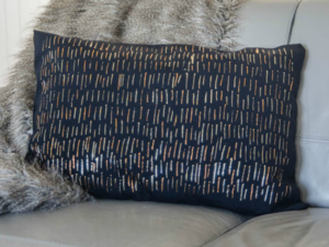 Metallic Foil DIY Pillow