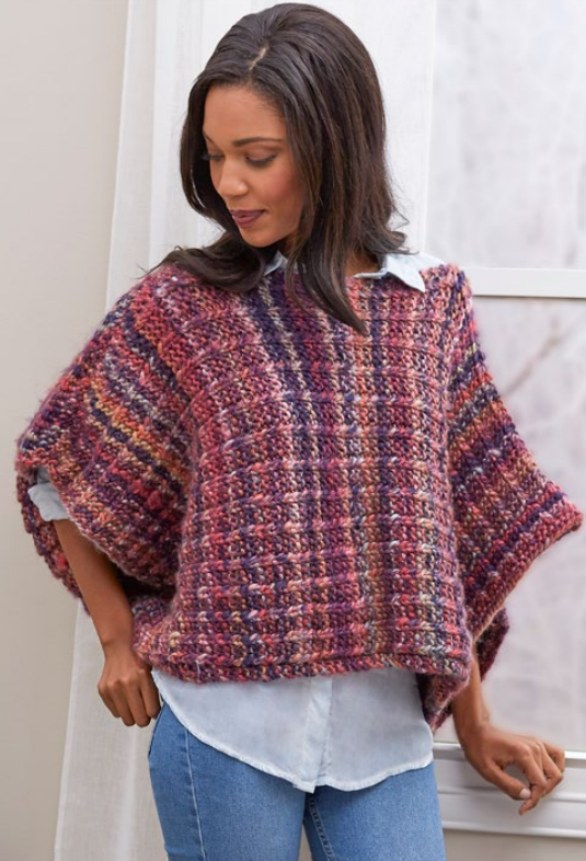 Boat Neck Easy Poncho Pattern