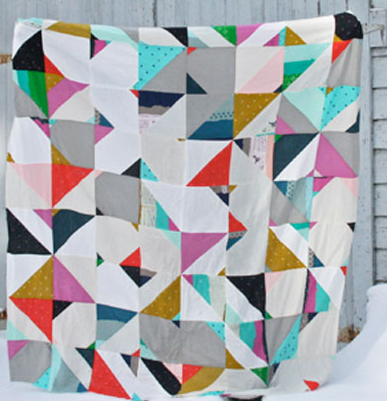Electric Geometric Modern Quilt