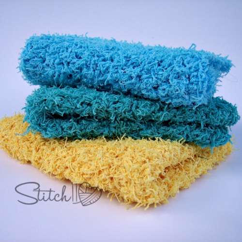 Simple Square Scrubby Dish Cloth