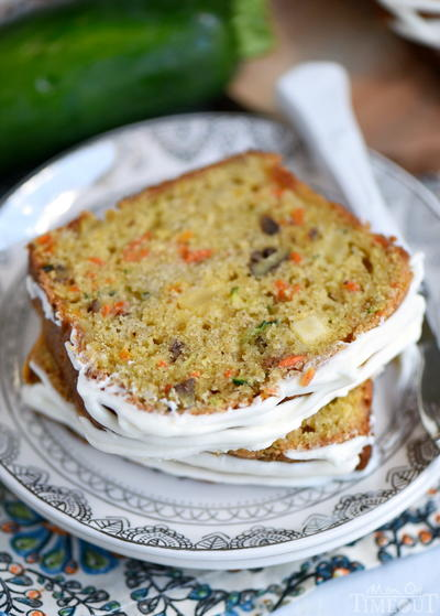 Carrot Apple Zucchini Bread