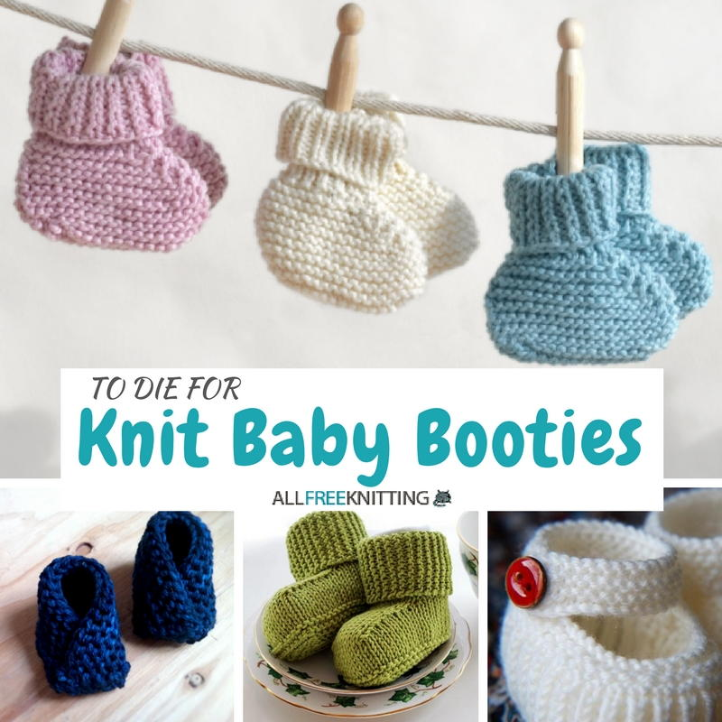 Knitting Pattern Felted Baby Booties : 27 Knit Baby Booties to Die For AllFreeKnitting.com