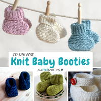 How To Knit Up Stitches On Booties : Minty Garter Stitch Baby Booties AllFreeKnitting.com