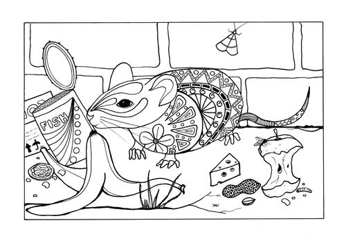 Concrete Jungle Adult Coloring Page