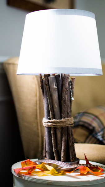 Wooden Tree Branch DIY Lamp