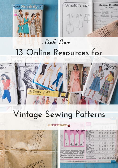 Link Love 13 Online Resources for Vintage Sewing Patterns