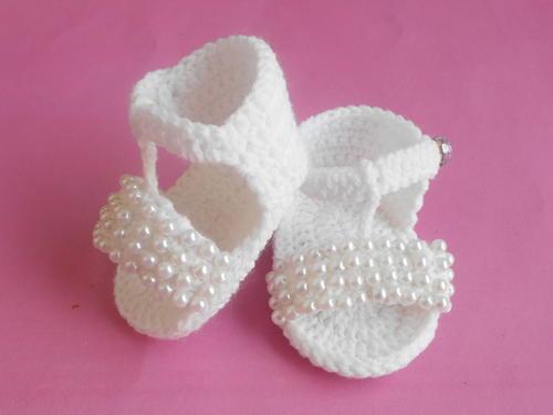 f08bf65ce226 Crochet Baby Beaded Flip Flop Sandals