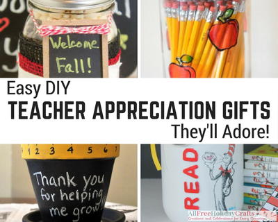 Easy DIY Teacher Appreciation Gifts