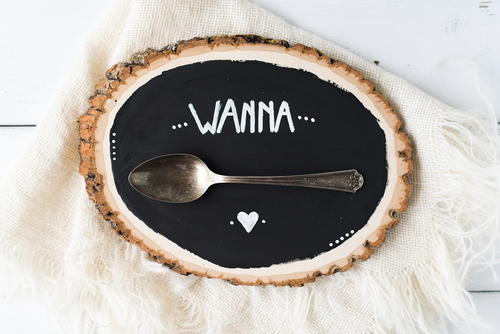 Wanna Spoon Sign Silverware Craft