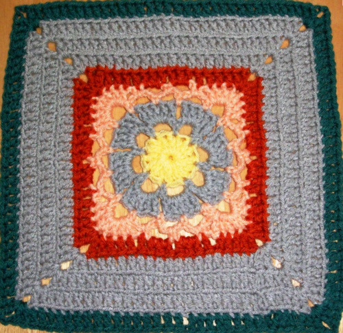 Warm Ridges Granny Square Pattern