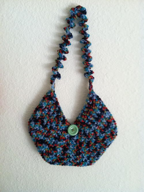 Circular Crocheted Purse