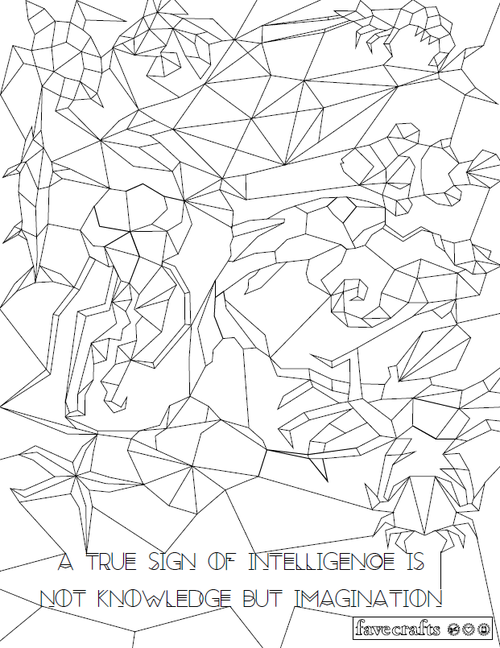 Hidden Aquatics Coloring Page
