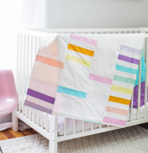 Mod Pastel Crib Quilt for Baby