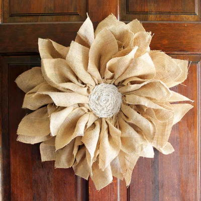 Adorable Burlap Flower Wreath