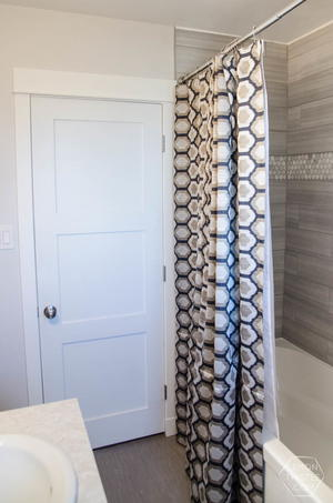 Fabulous Extra Long DIY Shower Curtain