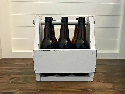 Vintage DIY Wooden Beer Caddy