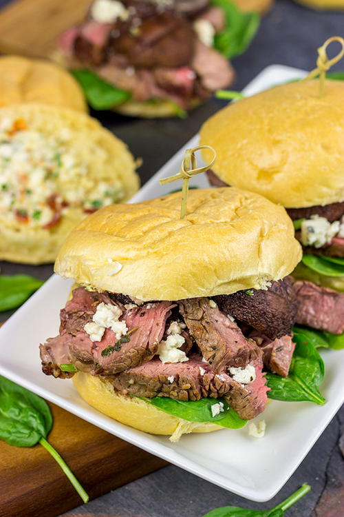 Steak Sliders with Blue Cheese Butter