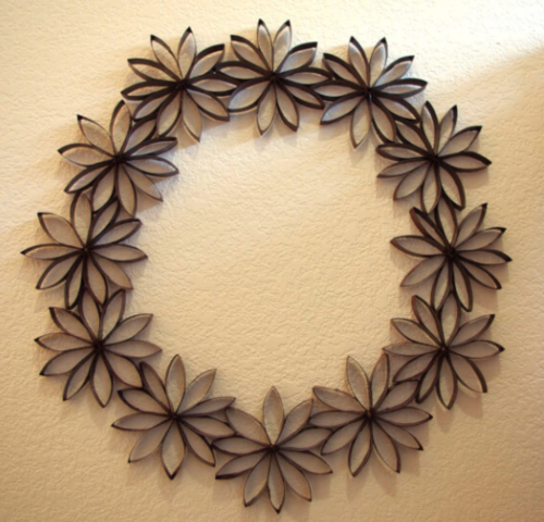 Thrifty Paper Flowers Wreath