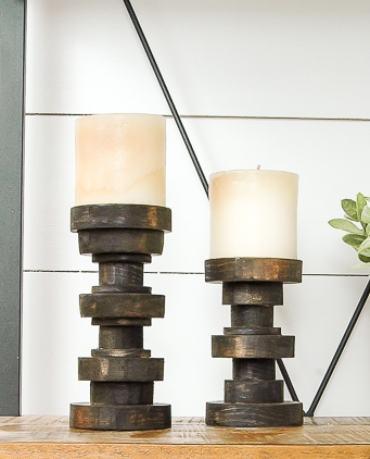Subtle Elegance Pillar Candle Holders