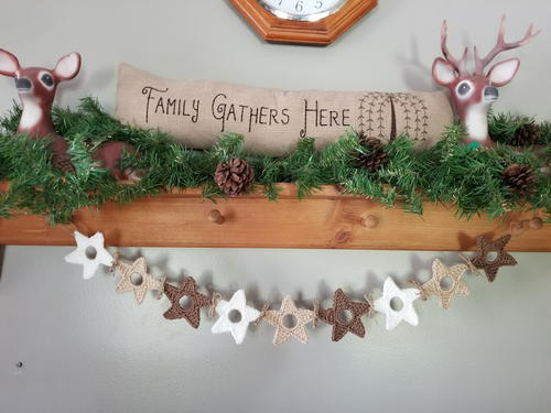Upcycled Star Garland