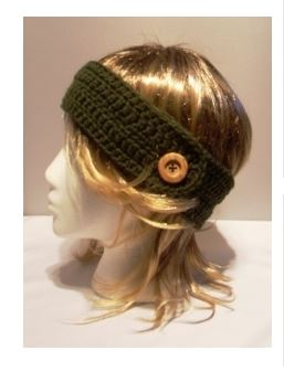 Headband with Button