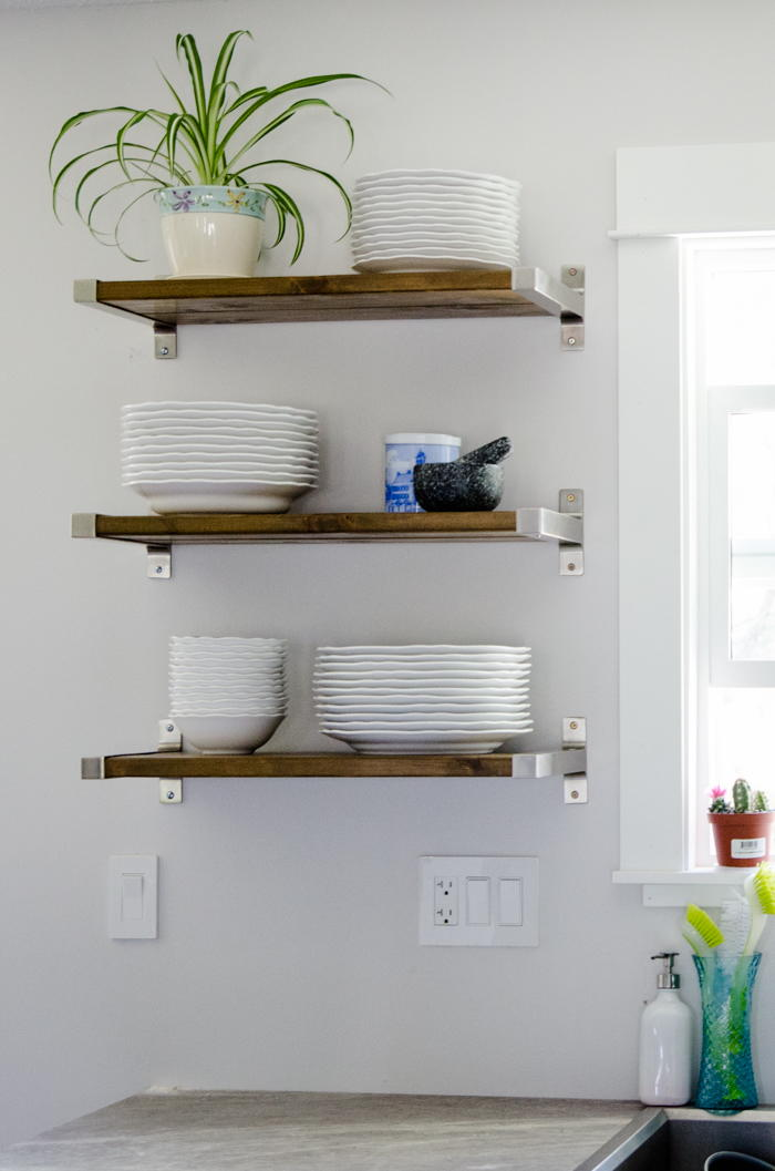 Fantastic diy floating shelves Floating shelf ideas for kitchen