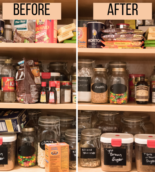 Pantry Organization, Before/After