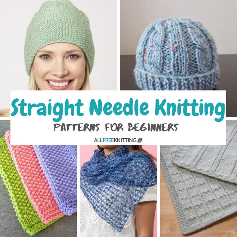 24 Straight Needle Knitting Patterns for Beginners AllFreeKnitting.com