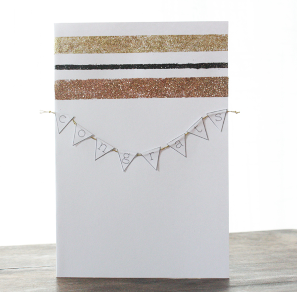 Glittering Wedding Card