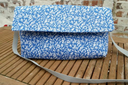 Upcycled Tea Towel Messenger Bag