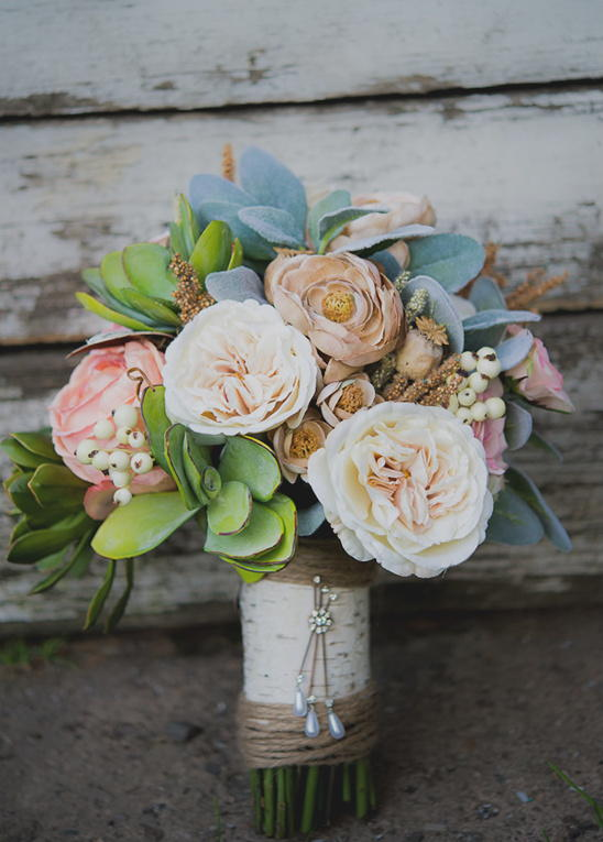 Elegant Silk Flower Bouquet