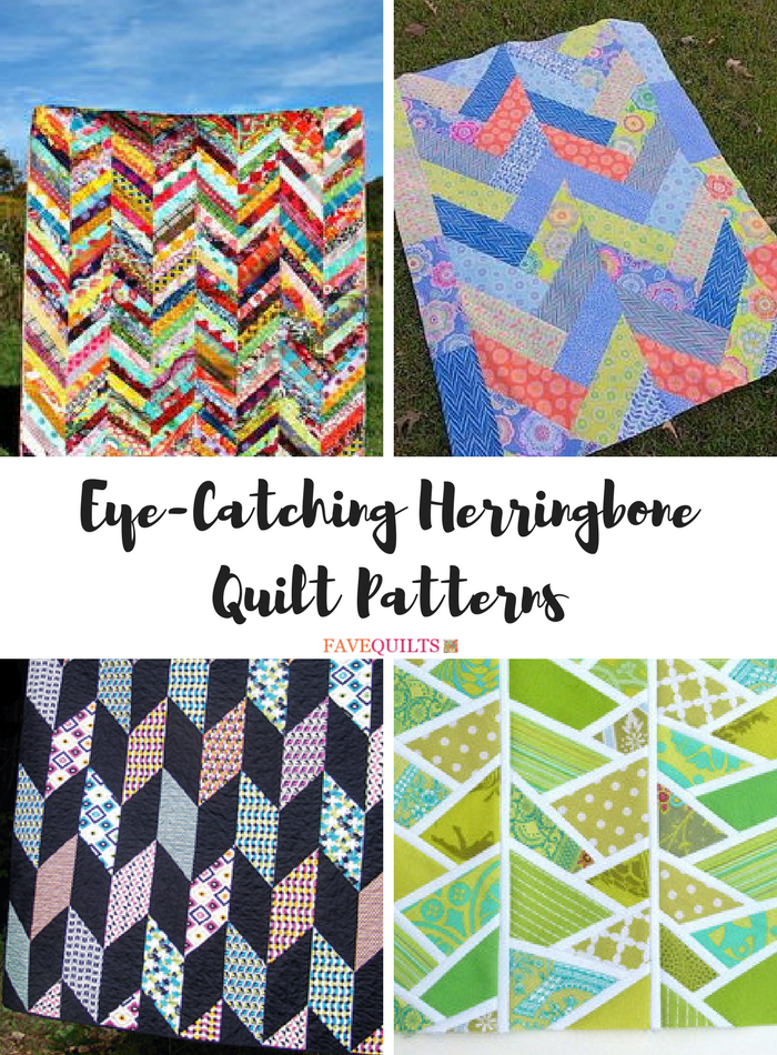 9 Eye Catching Herringbone Quilt Patterns Favequilts Com
