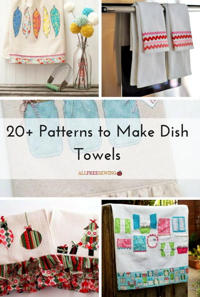 20 Patterns to Make Dish Towels