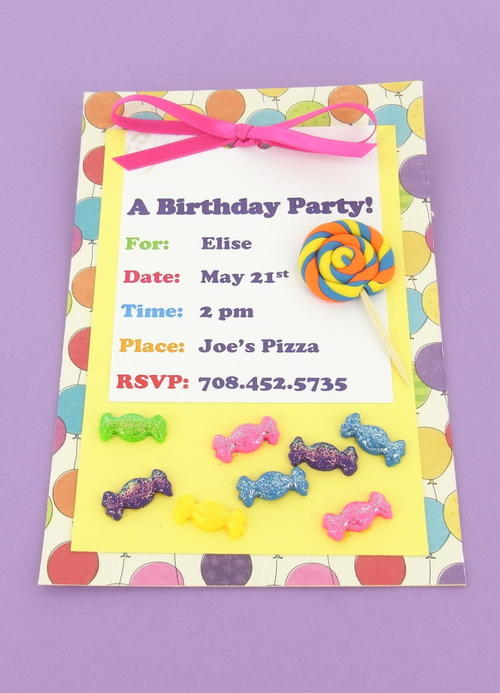 Enticing DIY Birthday Invitations