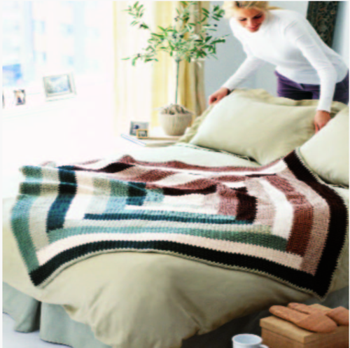 Homey Crochet Throw
