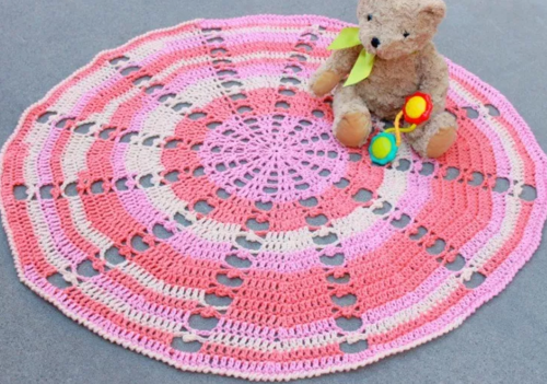 Sugar Wheel Circle Crochet Blanket