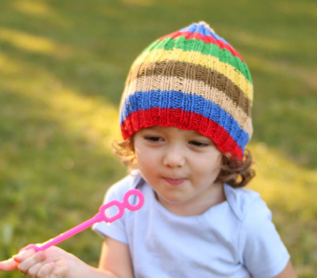 Slouchy Stripes Toddler Hat Pattern
