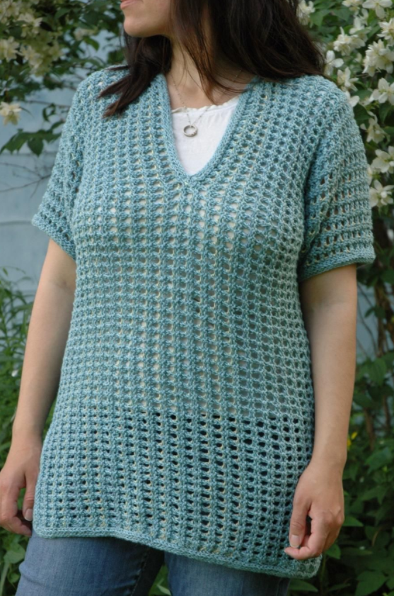 Simple Summer Knit Sweater Pattern