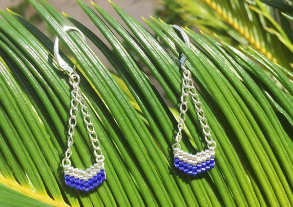 Charming Beaded Chevron DIY Dangle Earrings