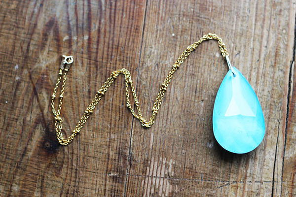 Aqua Amulet Pendant Necklace