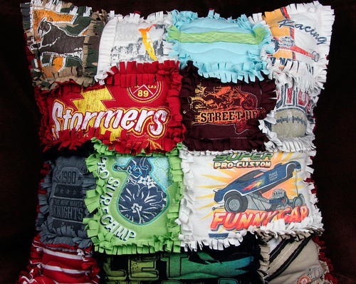 Upcycled Rag Quilt DIY Pillow