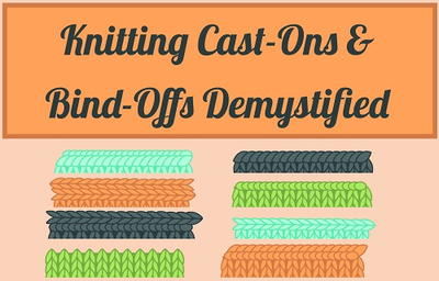 Knitting Cast On and Knitting Bind Off Techniques [Infographic]