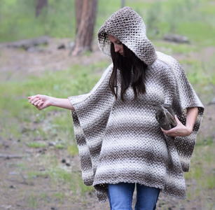 Driftwood Oversized Hooded Poncho