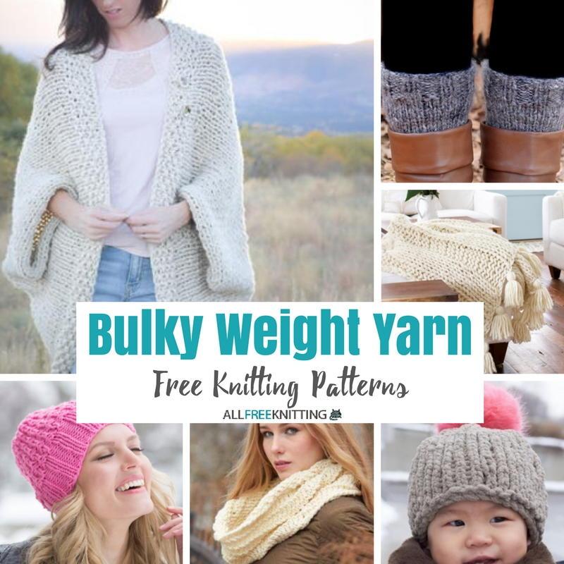 50+ Free Knitting Patterns with Chunky Weight Yarn ...
